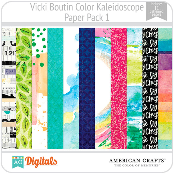 Color Kaleidoscope Paper Pack 1