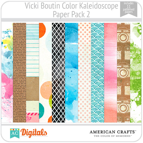 Color Kaleidoscope Paper Pack 2