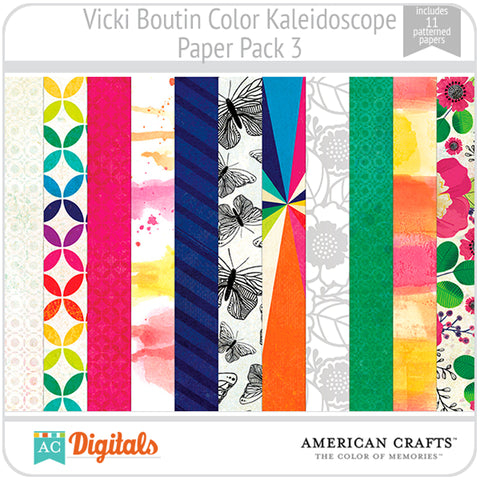 Color Kaleidoscope Paper Pack 3
