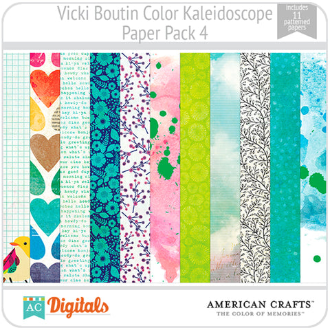 Color Kaleidoscope Paper Pack 4