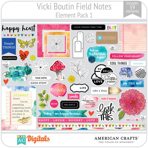 Field Notes Element Pack 1