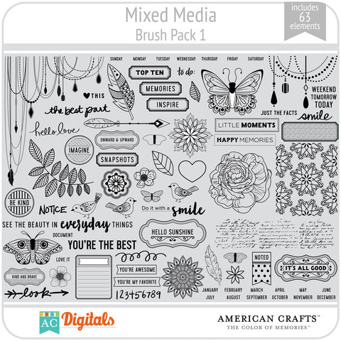 Mixed Media Brush Pack 1