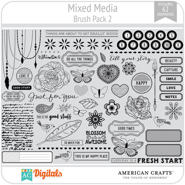 Mixed Media Brush Pack 2