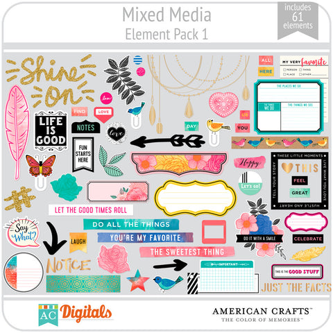 Mixed Media Element Pack 1