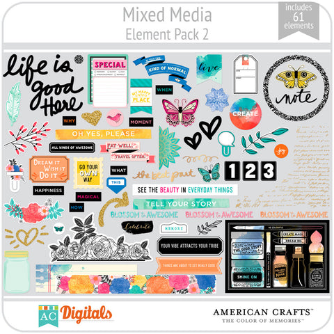 Mixed Media Element Pack 2