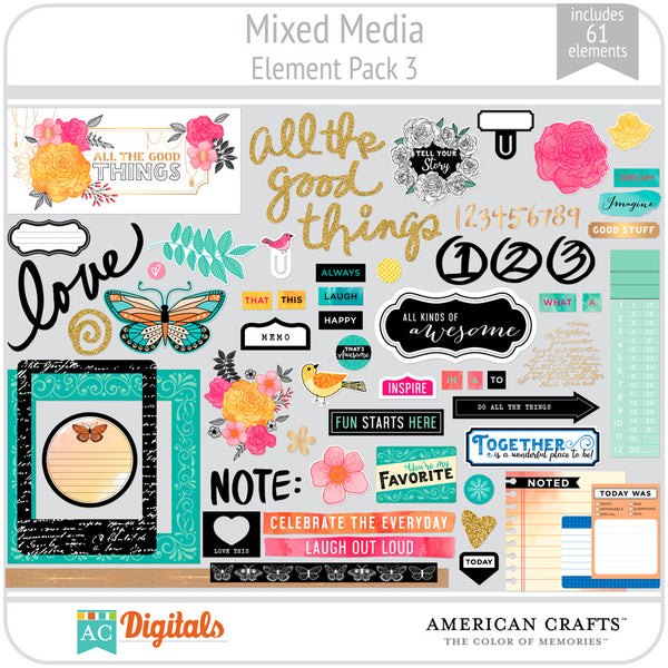Mixed Media Element Pack 3