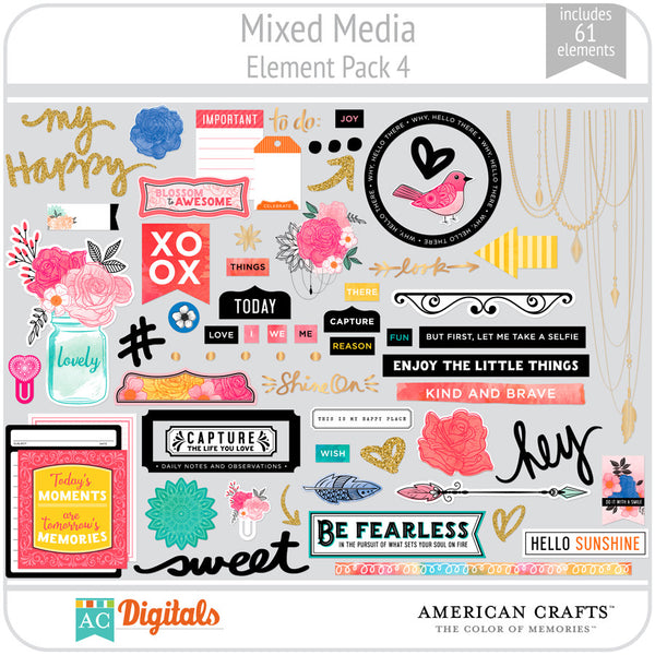 Mixed Media Element Pack 4