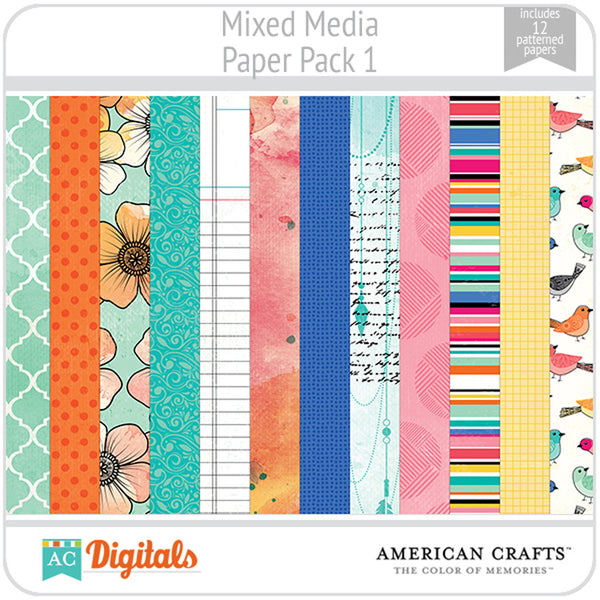 Mixed Media Paper Pack 1