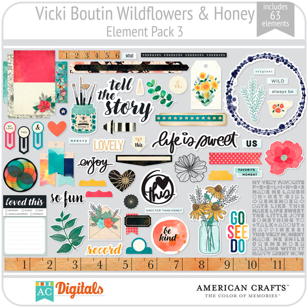 Wildflower & Honey Element Pack 3
