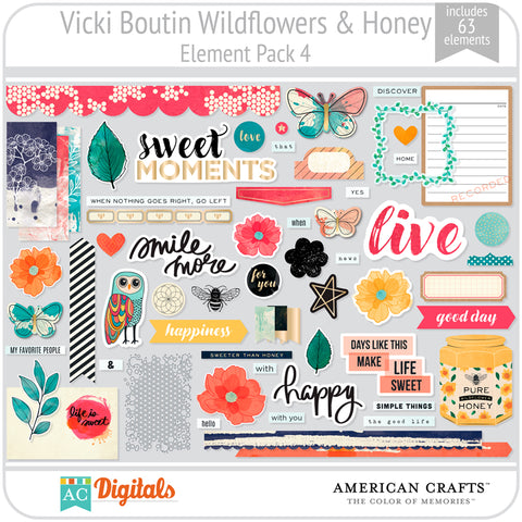 Wildflower & Honey Element Pack 4