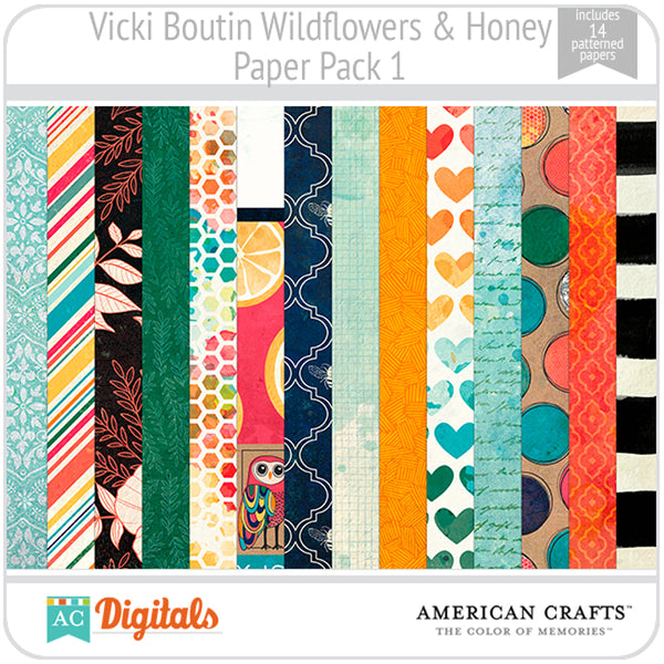 Wildflower & Honey Paper Pack 1