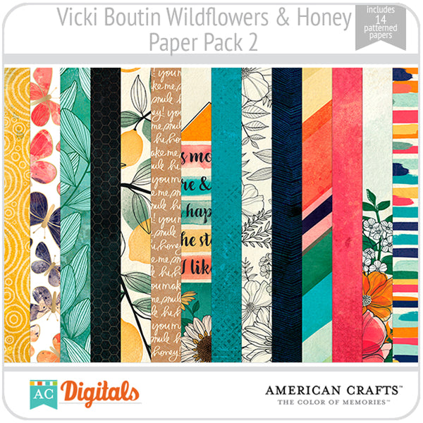 Wildflower & Honey Paper Pack 2