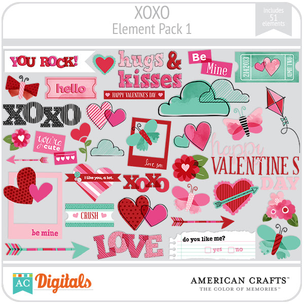XOXO Element Pack #1