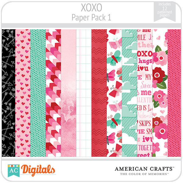 XOXO Paper Pack #1