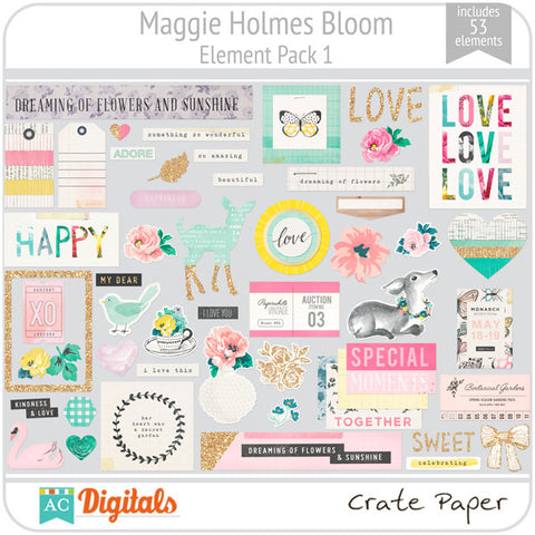 Maggie Holmes Bloom Element Pack #1