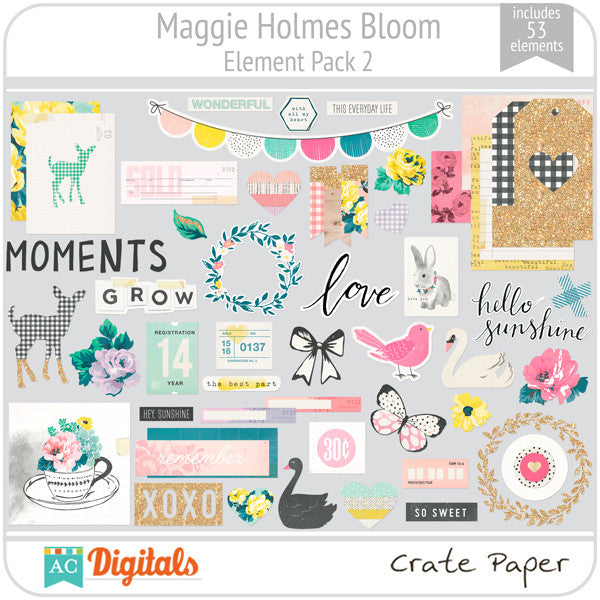 Maggie Holmes Bloom Element Pack #2