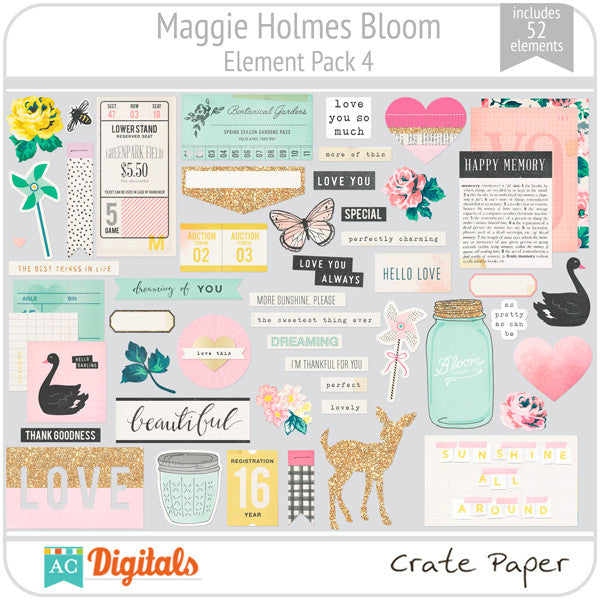 Maggie Holmes Bloom Element Pack #4