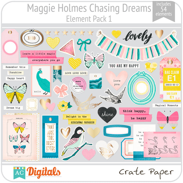 Maggie Holmes Chasing Dreams Element Pack 1