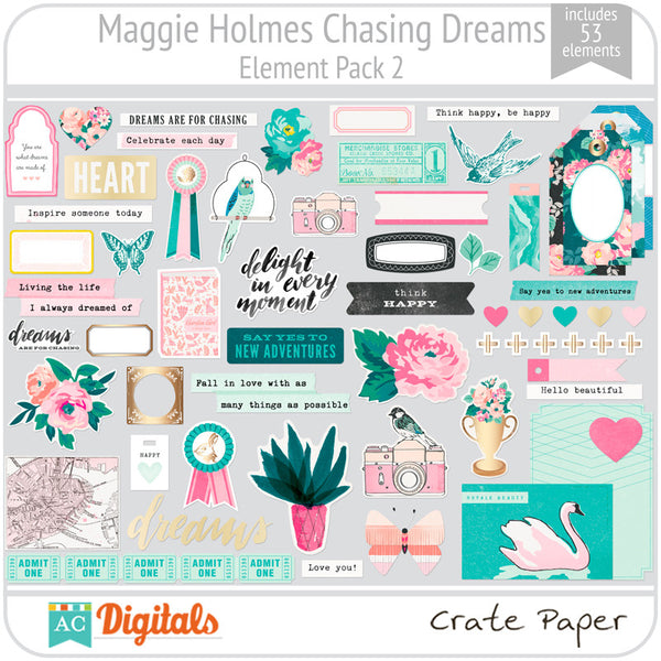 Maggie Holmes Chasing Dreams Element Pack 2