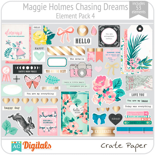 Maggie Holmes Chasing Dreams Element Pack 4