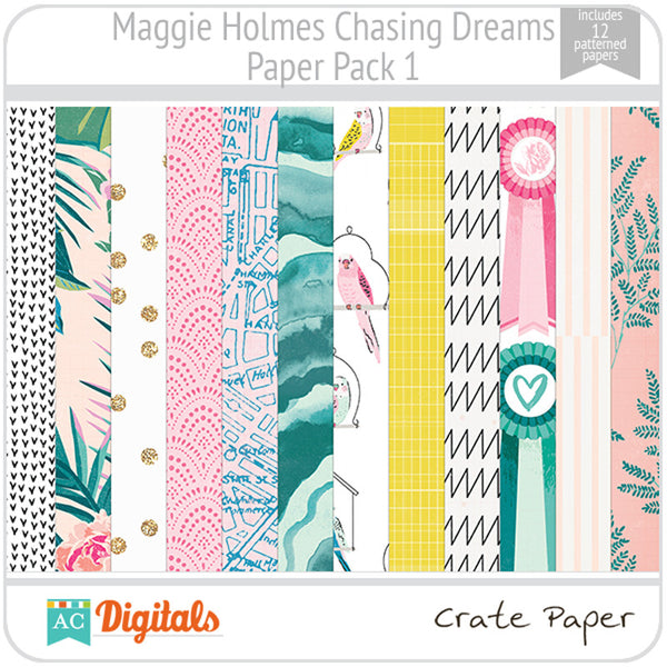 Maggie Holmes Chasing Dreams Paper Pack 1