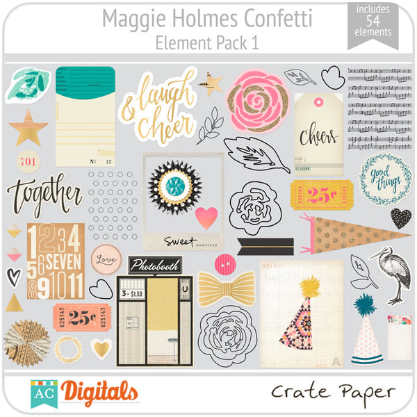 Maggie Holmes Confetti Element Pack 1