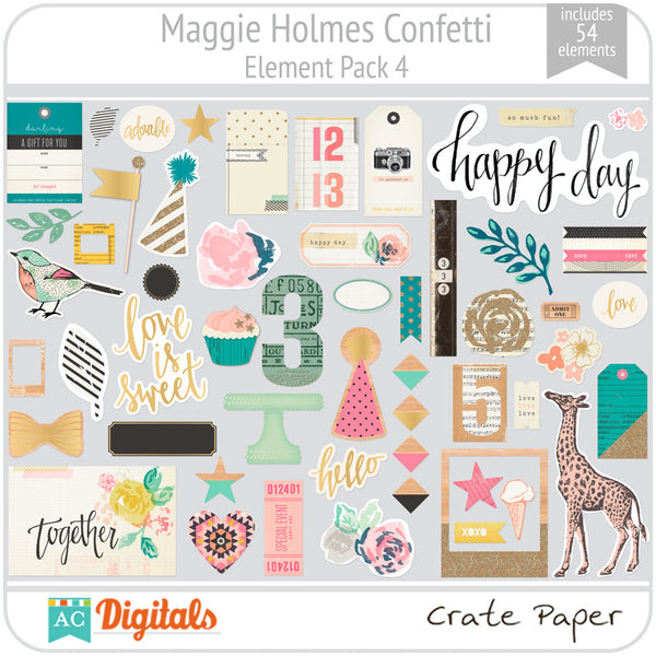 Maggie Holmes Confetti Element Pack 4