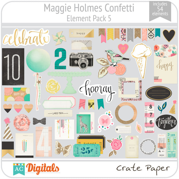 Maggie Holmes Confetti Element Pack 5