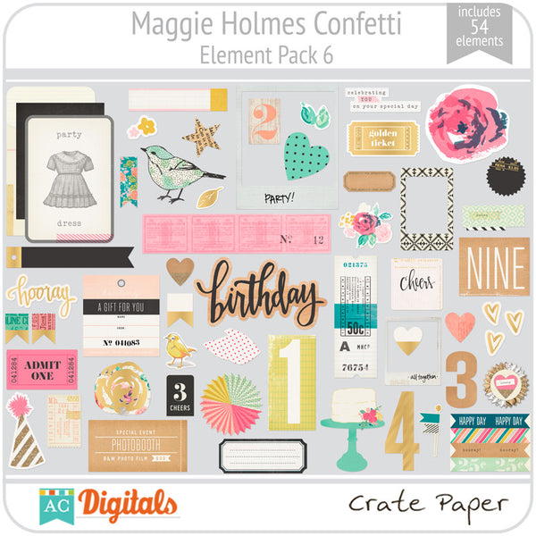 Maggie Holmes Confetti Element Pack 6