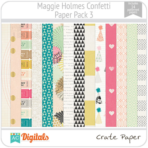 Maggie Holmes Confetti Paper Pack 3