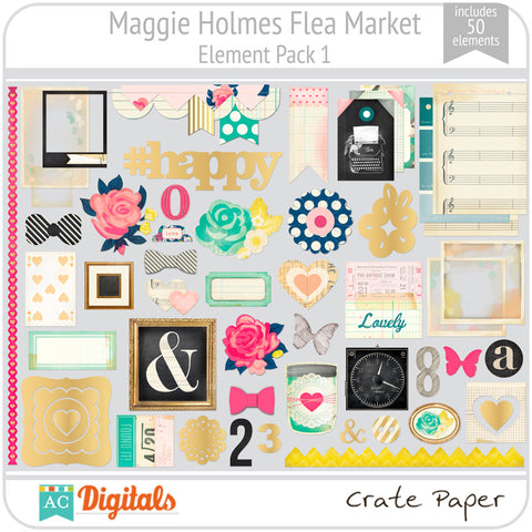 Maggie Holmes Flea Market Element Pack 1