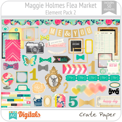 Maggie Holmes Flea Market Element Pack 2