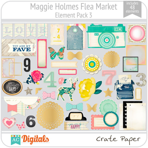 Maggie Holmes Flea Market Element Pack 3