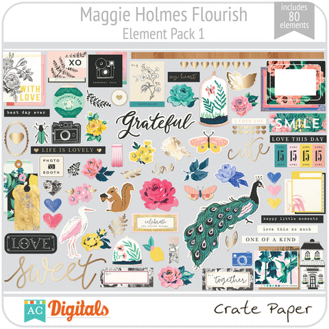 Maggie Holmes Flourish Element Pack 1