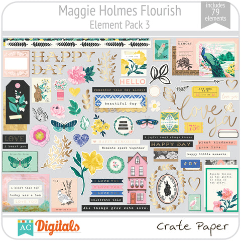 Maggie Holmes Flourish Element Pack 3