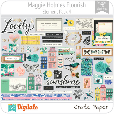 Maggie Holmes Flourish Element Pack 4