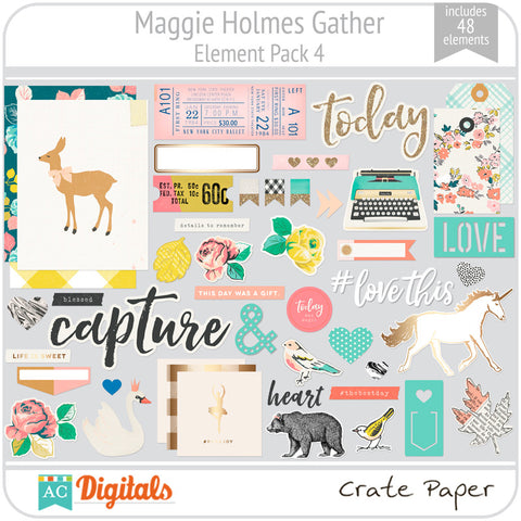 Maggie Holmes Gather Element Pack 4