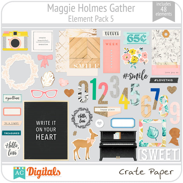 Maggie Holmes Gather Element Pack 5