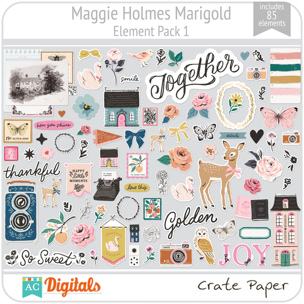 Maggie Holmes Marigold Element Pack 1