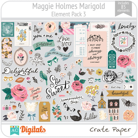 Maggie Holmes Marigold Element Pack 3