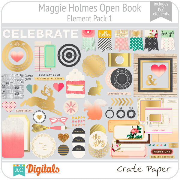 Maggie Holmes Open Book Element Pack #1