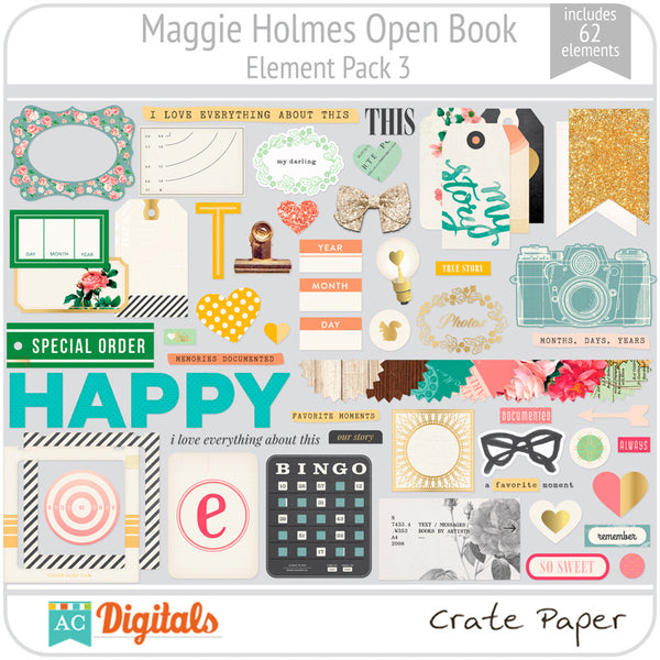 Maggie Holmes Open Book Element Pack #3