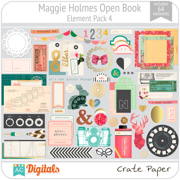 Maggie Holmes Open Book Element Pack #4