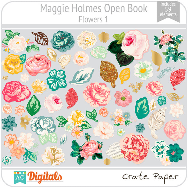 Maggie Holmes Open Book Flowers #1