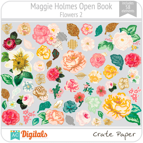 Maggie Holmes Open Book Flowers #2