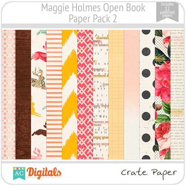 Maggie Holmes Open Book Paper Pack #2