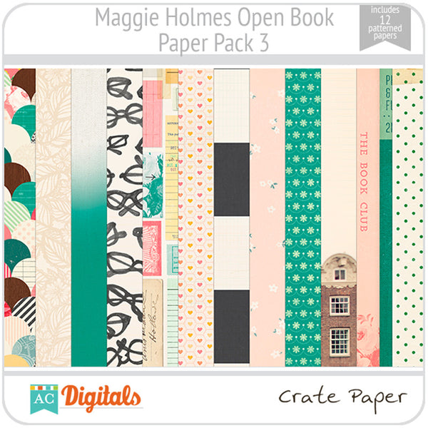 Maggie Holmes Open Book Paper Pack #3