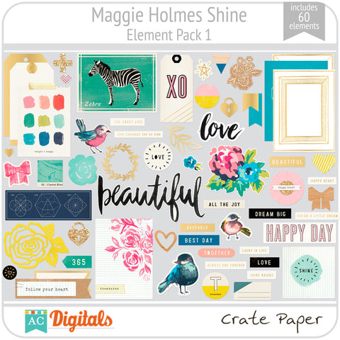 Maggie Holmes Shine Element Pack #1