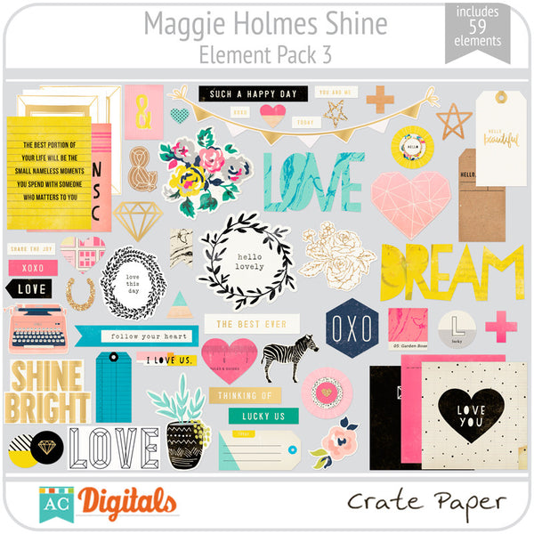 Maggie Holmes Shine Element Pack #3