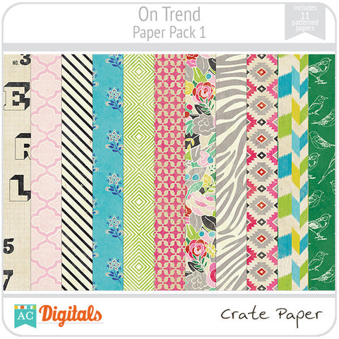On Trend Paper Pack #1